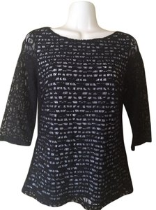 Banana Republic Lace Top black lace
