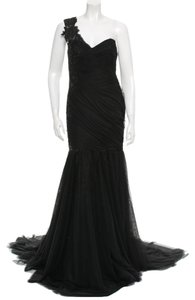 Marchesa Formal Long Mermaid Silhoette Beading New Silk Polyester Tie Dress