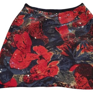 Wolven Skirt Navy and orange floral