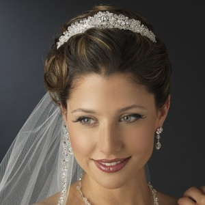 Elegance By Carbonneau Princess Crystal And Rhinestone Wedding Tiara
