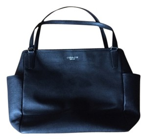 Coach Leather black Diaper Bag