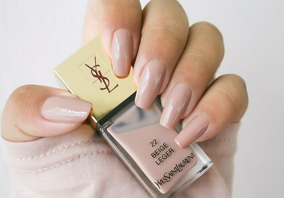 Saint Laurent Nude Beige Yves Lip Stick and Coordinating Nail ...
