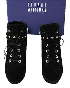 Stuart Weitzman Shotput Velour Black Athletic