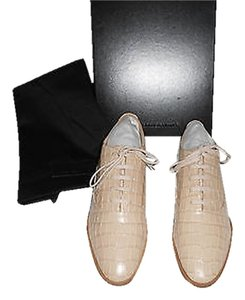 Alexander Wang Croc Embossed Sophisticated Oxford Beige Flats