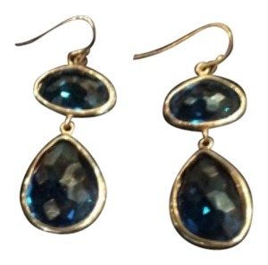 Other Teardrop safire blue earings.