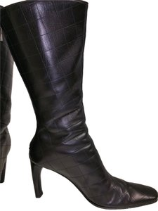 Claudia Ciuti Black diamond quilted Boots