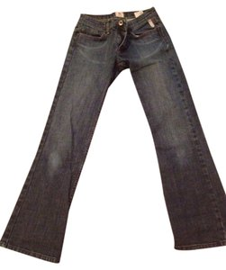 Express Straight Leg Jeans-Medium Wash