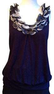 Charlotte Russe Top Navy blue/white