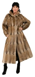 MINK MUSQUASH FUR COAT Small Medium Real Fur Coat