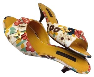Louis Vuitton Lv Mules Multi Color Multicolor Canvas Sandals
