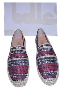 Belle by Sigerson Morrison Nudie 2 Sporty Blue/Red/Natural Flats