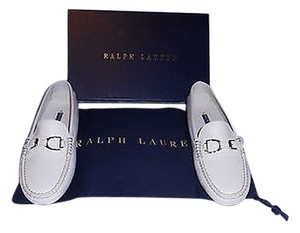 Ralph Lauren Collection Dasita Comfortable Woman's Loafer Made In Italy White Flats