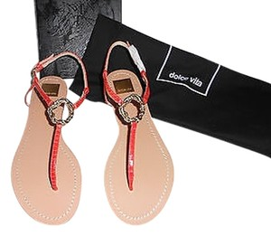 Dolce Vita Reptile Embossed Melon Sandals