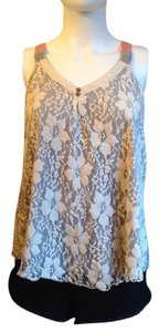 Rewind Top Grey/ivory lace