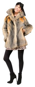 RED FOX FUR Size Medium Jacket Real Fur Coat