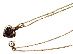 10K solid gold necklace and pendant