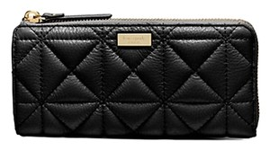 Kate Spade NWT Kate Spade Whitaker Pl Quilted Nisha Continental Wallet Black Gorgeous!