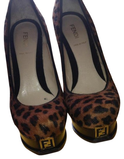 Fendi Leopard pony hair Pumps