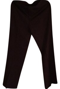 Banana Republic Straight Pants Burgandy with Beige Stripes