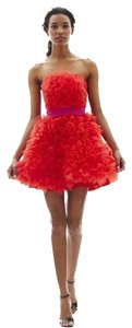 Marchesa Organza Rosette Dress