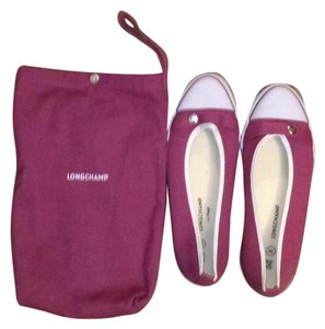 Longchamp Luxury Purple Flats