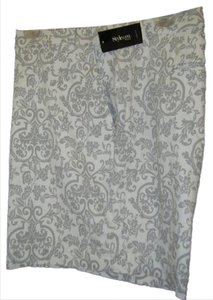 Style & Co 24w Tummy Bermuda Shorts GRAY & WHITE