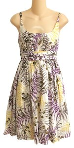 Aryeh short dress L Cotton Anthropologie Floral Print Lined Summer on Tradesy