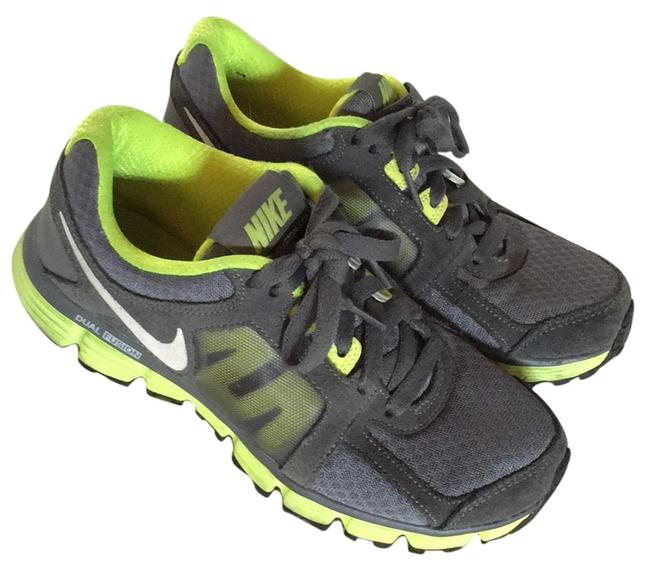 Item - Gray & Neon Green Dual Fusion Sneakers Size US 6 Wide (C, D)