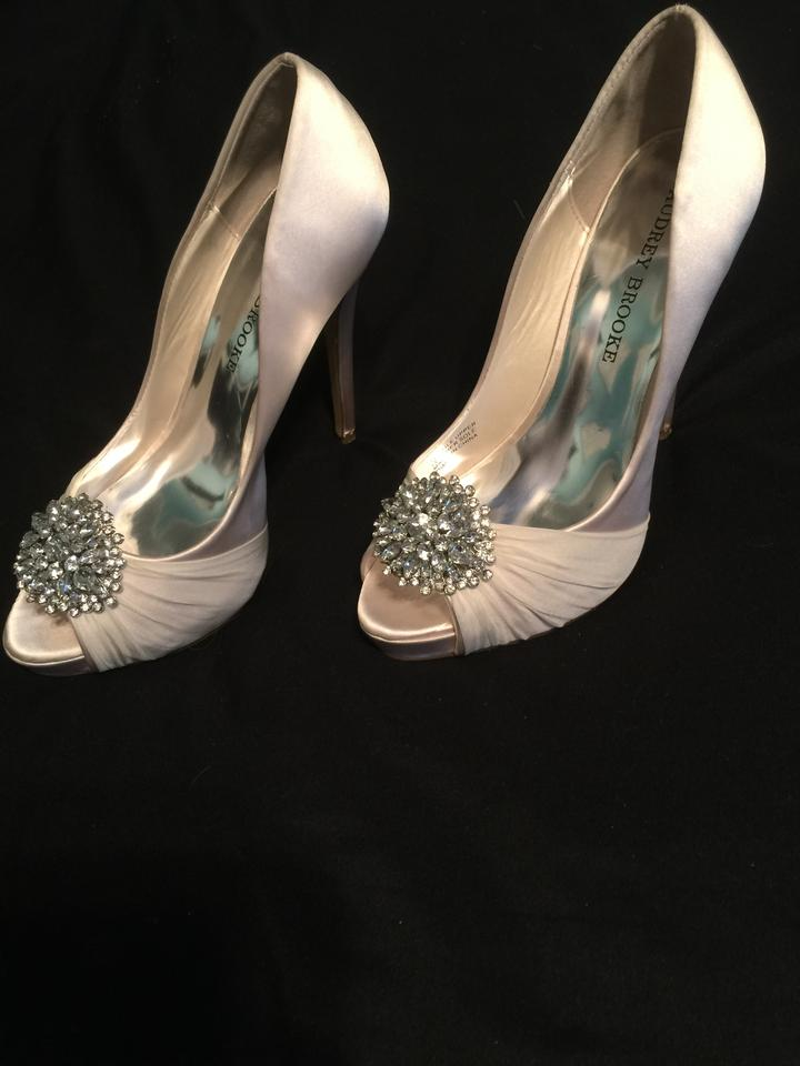 Audrey Brooke Peep Heels Stiletto Formal Ivory toe OPrwqxOU
