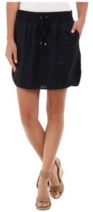 Michael Kors Linen Skirt Navy Blue