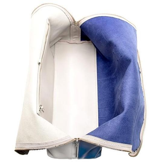 3.1 Phillip Lim Hour Leather Colorblock Two-tone Tote in Blue/Putty