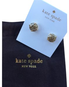Kate Spade LAST PAIR!!! Nwt Kate Spade Gold Glitter Gum Drop Stud Earrings