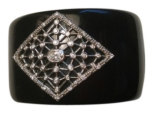 Miriam Salat Embellished black Resin cuff