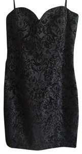 David Meister Velvet Evening Strapless Dress