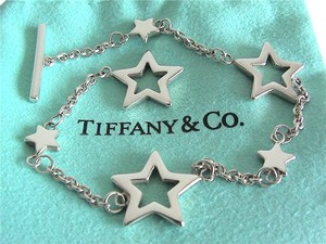 Tiffany & Co. NEW Authentic Tiffany & Co. Sterling Silver 925 Multi-Star Link Toggle Bracelet 7.25