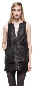 C/meo Collective short dress Black Leather Shift on Tradesy