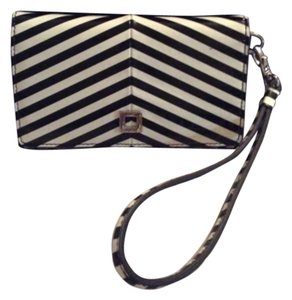 Lodis Black White Patent Wristlet Iphone Case