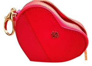 Tory Burch Heart Coin Case Key Fob