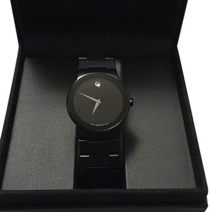 Movado black classic mans watch