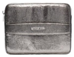 Michael Kors METALLIC EMBOSSED-LEATHER TABLET CASE