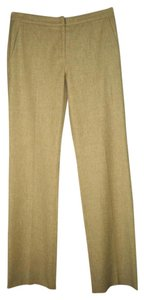 Narciso Rodriguez Wool Cashmere Brown Wide Leg Pants beige