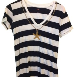 Joe Fresh T Shirt Navy and White