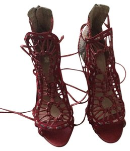 SCHUTZ Red/ croccidile Pumps