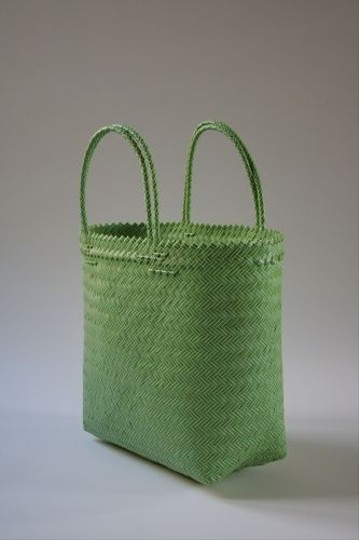 Other Plastic Tote Market Casual Summer Lime Green and Yellow Beach Bag