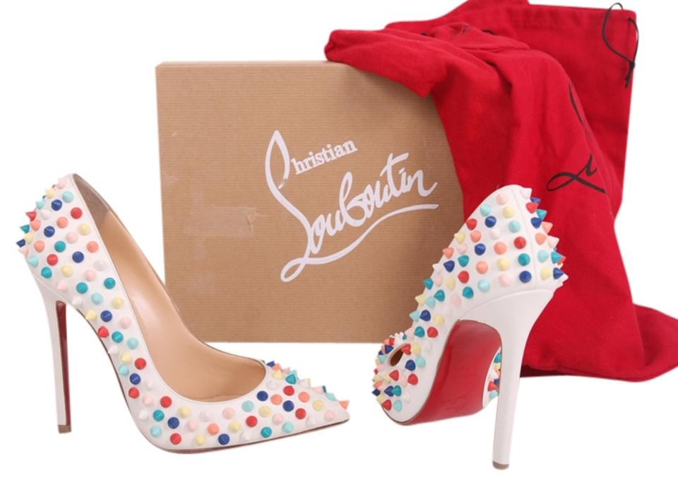 new style f2b4f 8811e Christian Louboutin White (Eur 34.5) Pigalle Gomme 120mm Pumps Size US 4  Regular (M, B) 63% off retail
