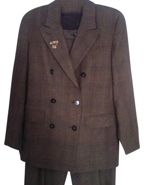 Item - Plaid Double Breasted Pant Suit Size 10 (M)