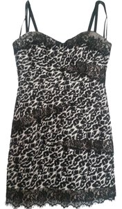 bebe Leopard Lace Night Out Dress