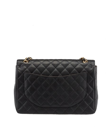 Chanel Maxi Caviar Quilted Double Flap Shoulder Bag