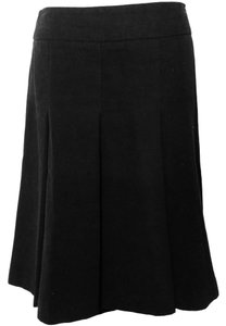 Zara Formal Work Pleated A-line Skirt Black