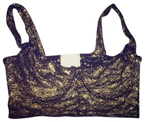 Urban Outfitters Bralette Crop Top Gold Foil